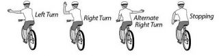 When do you NOT need to signal when cycling?