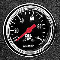 Normal oil pressure while idling is: