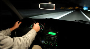 You should drive at night because roads are less congested.