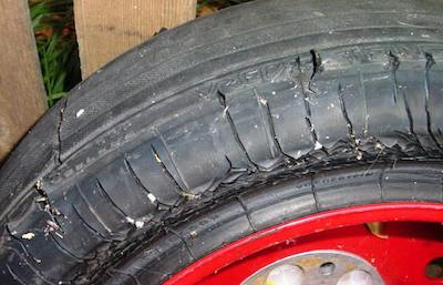 You buy a car and find that the spare tyre is smooth; the tread is only just visible. If you get a puncture will it be legal to drive the car with a smooth spare tyre?