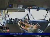 A school bus driver does not have to wear a seat belt at all times.