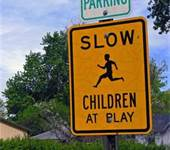 When you drive through an area where children are playing, you should expect them: