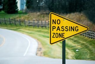 In which of the following situations is passing ALWAYS forbidden?