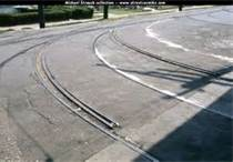 When railroad tracks, ruts, or pavement seams run parallel to your course: