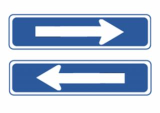 When you approach an intersection and the light is red, it is acceptable to turn left if there is a sign with an arrow pointing left.