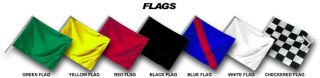 What do standing yellow flags mean in auto racing?