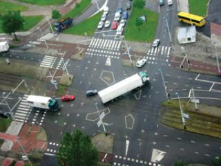 If you plan to turn beyond an intersection, you must: