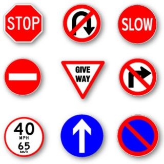 All regulatory devices on the road instruct you: