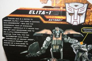 What is Elita-1's vehicle form in Revenge of the Fallen?