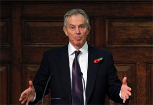 Tony Blair says: Switch on your emergency signals!